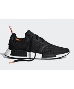 a06c3424f7ebb Adidas NMD R1 Black Orange White Red Trainers