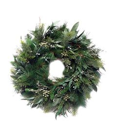 Another great find on #zulily! Eucalyptus & Pine Lighted Wreath #zulilyfinds