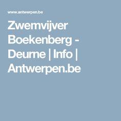 Zwemvijver Boekenberg - Deurne | Info | Antwerpen.be