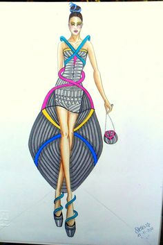 Stellita PinK StaR: fashion Design 2012 illustrations of fashion (my self immagination)