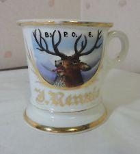 Occupational Shaving Mug Hand Painted Elks Club