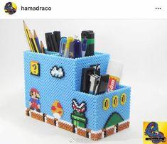 Range Stylo Hama Beads – Beading and Clothes Perler Bead Designs, Perler Bead Templates, Diy Perler Beads, Hama Beads Design, Hamma Beads 3d, Pearler Beads, Fuse Beads, Hama Beads Mario, Mario Bros