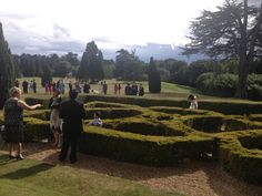 Hedsor House Exploring the maze