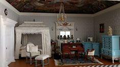My Miniature World: Completing the Queen's Bedroom Diorama - Queen Mar...