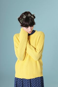 thewhitepepper: Yellow Knit Shop.