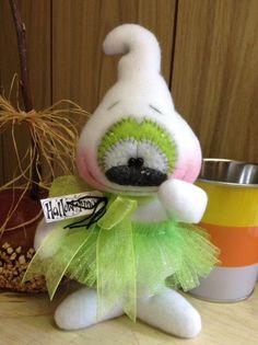 "Primitive HC Raggedy Halloween Sooky Ballerina Ghost Doll 8.5"" Super Cute! #IsntThatCute #Halloween"