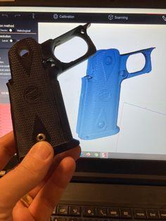 Aseen perä 3D-skannattiin RangeVision Spectrum 3D-skannerilla. Spectrum, 3d