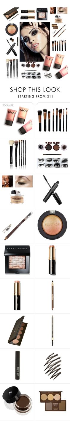"""""""Glow Makeup"""" by shangalairina ❤ liked on Polyvore featuring beauty, M.O.T.D Cosmetics, Bobbi Brown Cosmetics, Topshop, Sisley, Becca, Clarins and Lancôme"""
