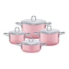Jogo Panelas Rose Pink 4 Peças.