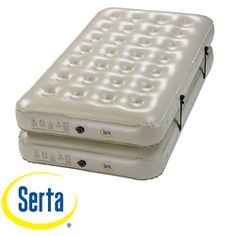 @Overstock - This Serta 3-in-1 Combo Bed gives you lots of versatility and comfort, allowing you to own one air bed that satisfies multiple uses. This bed features 28 circular coils on each mattress that creates a comfortable sleeping surface.   http://www.overstock.com/Home-Garden/Serta-3-in-1-Twin-King-size-Combo-Airbed-with-External-AC-Pump/6609128/product.html?CID=214117 CAD              95.73