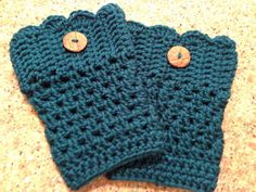 boot cuffs - great color & cute button detail