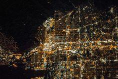 Salt Lake City, Utah. At night. From space.