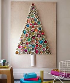 Christmas Tree Ornaments Recycled Materials Creative Types Of