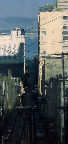 Cityscape. Ben Aronson. Oil.