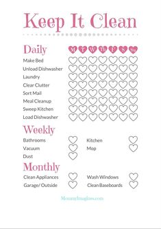 Quick and Easy Cleaning Schedule + Free Printable How I clean my house in under 30 minutes a day. My ultimate quick and easy schedule. Get your free cleaning printable now! House Cleaning Tips, Cleaning Hacks, Cleaning Schedules, Diy Hacks, Weekly Cleaning Checklist, Cleaning Schedule Printable, Apartment Cleaning Schedule, Household Cleaning Schedule, To Do Planner