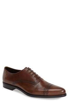Prada Cap Toe Oxford Brogue Shoes