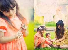 butterflys and matching dresses -- now that's a summer day celebration.