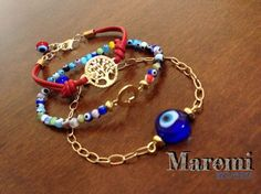 ♛ SET DE PULSERAS, OJO TURCO DE CRISTAL,PIEL, CADENA Y DIJES CHAPA DE ORO. Jewelry Ideas, I Love Jewelry, Diy Jewelry, Jewelry Design, Jewelry Making, Pearl Jewelry, Jewelry Accessories, Summer Bracelets, Jewelry Bracelets