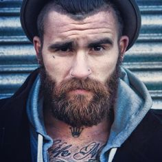 Beards. Men. Ink.