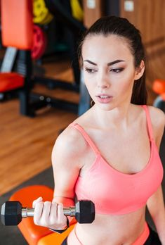 beautiful strong young woman athlete training using dumbbells in the gym Fitness Women, Dumbbell Workout, Athletic Women, Fun Workouts, Fit Women, Athlete, Training, Strong, Gym