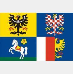 Vlajka Moravskoslezský kraj Flag, Country, Art, Rural Area, Kunst, Science, Country Music, Flags, Art Education