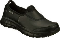 Skechers+Work+Relaxed+Fit+Sure+Track+-+Black+with+FREE+Shipping+&+Returns.+A+comfortable+favorite+gets+serious+with+the+SKECHERS+Work:+Relaxed+Fit+-+
