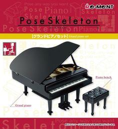 Re-ment Miniatures (Rement) Pose Skeleton  Grand Piano Set  4521121301006 | eBay