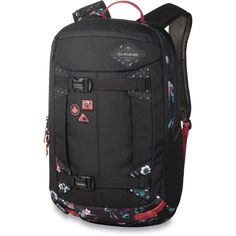 The Women's Team Mission Pro 25L was designed in collaboration with Leanne Pelosi, featuring custom floral patterns and Full Moon Production inspired details. With a female-specific fit in the shoulder straps, hipbelt, and overall silhouette, the Women's