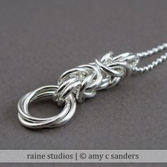 Sterling silver Byzantine Love Knot chainmaille by rainestudios