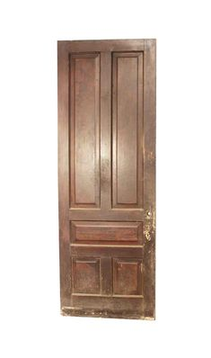 Both doors have different colored stains. No hardware included. Priced each. Exterior Entry Doors, Wood Entry Doors, Arched Doors, Interior And Exterior, Douglas Fir Wood, Antique Interior, Antique Doors, Pocket Doors, Closet Doors