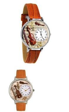 Other Wholesale Wristwatches 40133: Whim-U0510002-Whimsical Watches Unisex U0510002 Violin Tan Leather Watch -> BUY IT NOW ONLY: $44.95 on eBay!