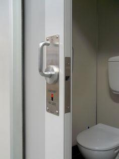 Lavilock on Newyorker door Sliding Door Hardware, Sliding Doors, Privacy Lock, Toilet Door, Side Plates, Pocket Doors, Cavities, Locker Storage, Handle