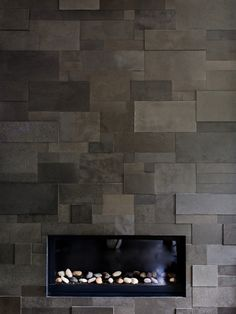 Cool tile for fireplace wall.