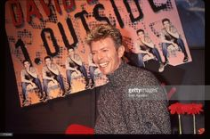 "September 26, 1995. David Bowie at HMV Records store in Manhattan for the promotion of ""Outside"". Photo by © Evan Agostini."