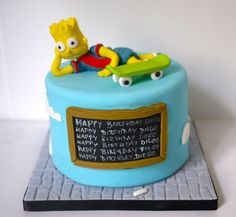 bart simpson cake | Bart Simpson Cake