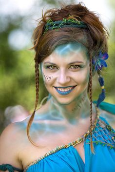 bristol ren faire - mermaid. I love how the white is used to look like light through water.