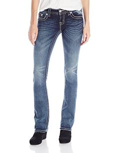 Miss Me Juniors Slim Bootcut Jean Dark 26 * Want additional info? Click on the image.(This is an Amazon affiliate link and I receive a commission for the sales)