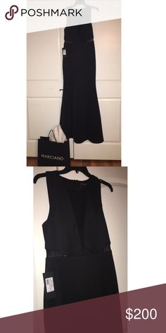 Marciano Scuba Formal Dress Love this dress! It's a gorgeous scuba material with mesh inserts. I bought it for a black tie wedding but realized I had about 3 other dresses that look like it! Marciano Dresses Maxi