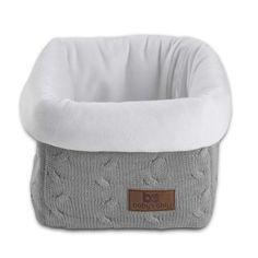 Corbeille de rangement Cable Uni gris : Baby's Only - Corbeille en tissu - Berceau Magique