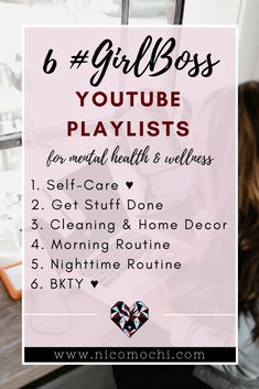 Join amazing #girlbosses such as Kalyn Nicholson, Aileen Xu (Lavendaire), and Amy Landino in nurturing #selflove, #mentalhealth, and #productivity. I've created 6 #youtube playlists to help inspire you to work toward your dream life.