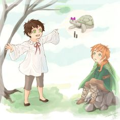 Lil Spain and Ireland by LeZombieCookie.deviantart.com on @deviantART - Ireland here is an OC