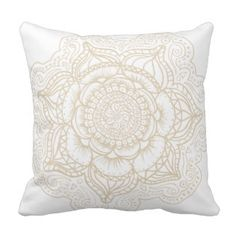 Off-White Mandala Pillow