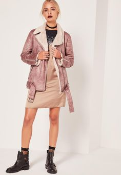 Missguided - Veste Rose Style Pilote