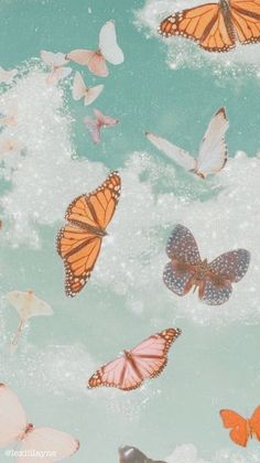 wallpaper one color wall murals Wallpaper Pastel, Butterfly Wallpaper Iphone, Cute Patterns Wallpaper, Iphone Background Wallpaper, Iphone Backgrounds, Screen Wallpaper, Iphone Wallpapers, Aztec Wallpaper, Cute I Phone Wallpaper