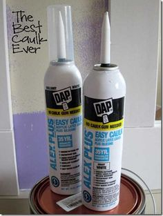 How To Paint and Caulk Board and Batten -- use Alex Plus Easy Caulk by Dap (can get it at Walmart)