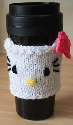 Hello Kitty reusable coffee cup cuff/cosy by sweetygreetings, £2.99