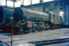 Ex-LNER B1 class 4-6-0 No 61161 stands inside Saltley shed's No 3 roundhouse ready for its next trip