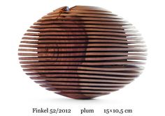 Rillen Wooden Bowl Finkel 52/2012 plum by Christoph Finkel – click the pin to see his entire collection