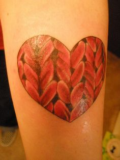new knitted tattoo by fenifer, via Flickr