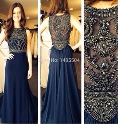 Sexy A-line Sequin Beaded Fold Beading Beads sheer Tulle crystals pleats Chiffon Luxury long Prom Gowns Zipper Party 2015 New